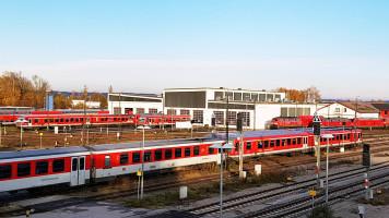 Betriebswerk und Gleisanlagen