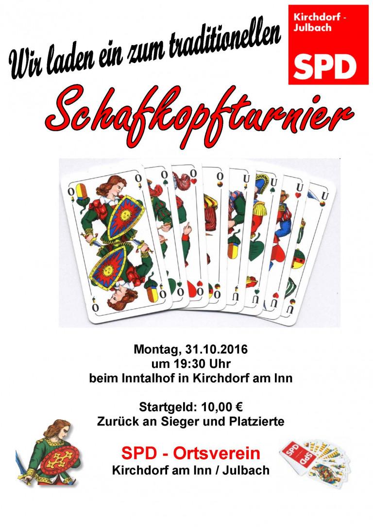 Schafkopfturnier Inntalhof 31.10.2016