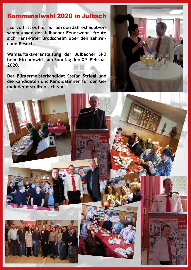 Wahlauftaktveranstaltung beim Kirchenwirt in Julbach